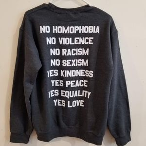 NWT Jac Vanek NO / YES SWEATSHIRT